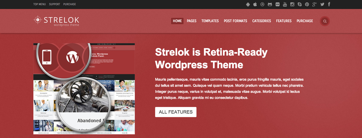 Strelok WordPress Theme