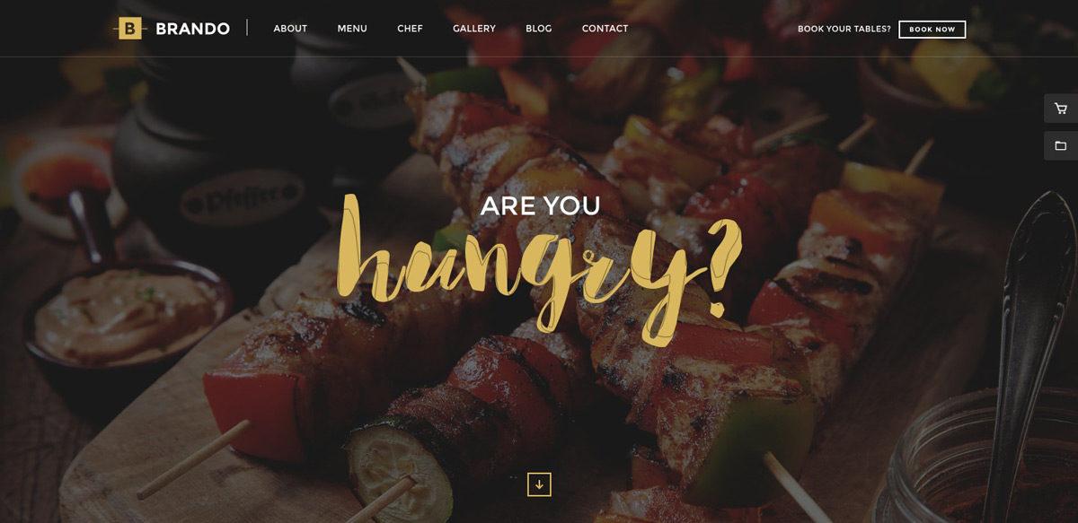 Brando Restaurant Responsive WordPress Theme