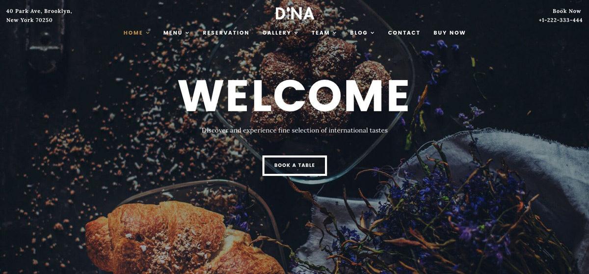 Dina Restaurant Theme