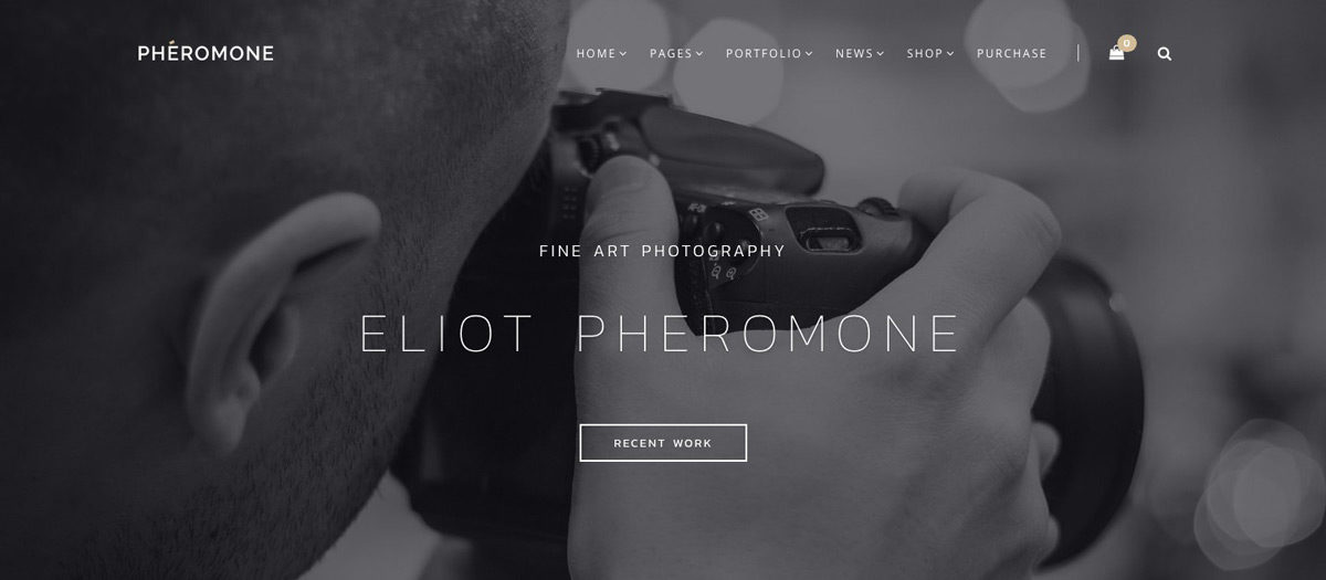 Pheromone Photography WordPress Theme