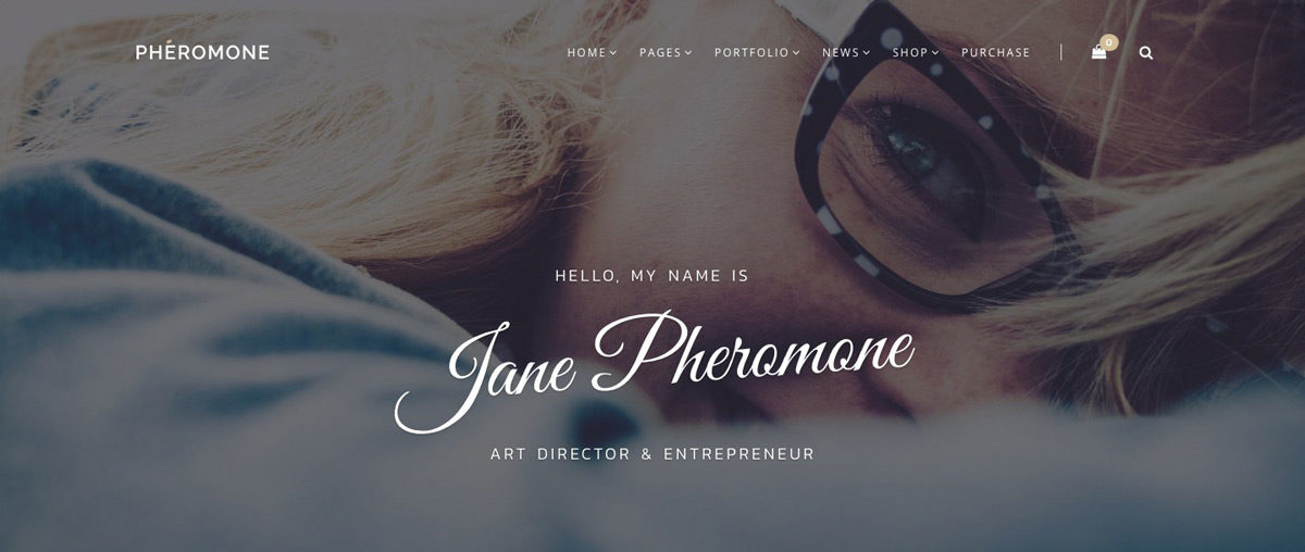 Pheromone Personal WordPress Theme