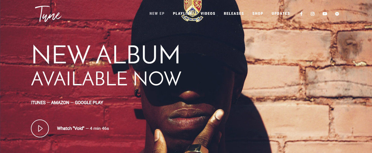 Tune Hip-Hop WordPress Theme