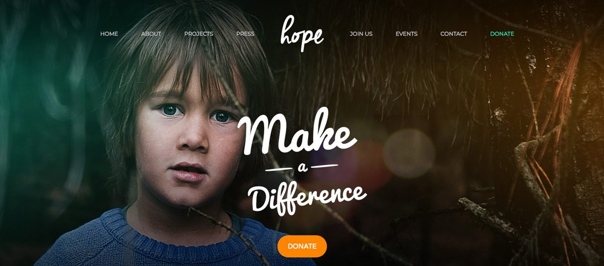 Hope Charity WordPress Theme