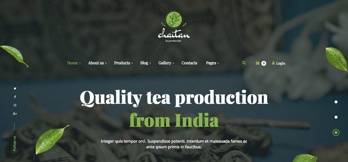 Chaitan WordPress Theme
