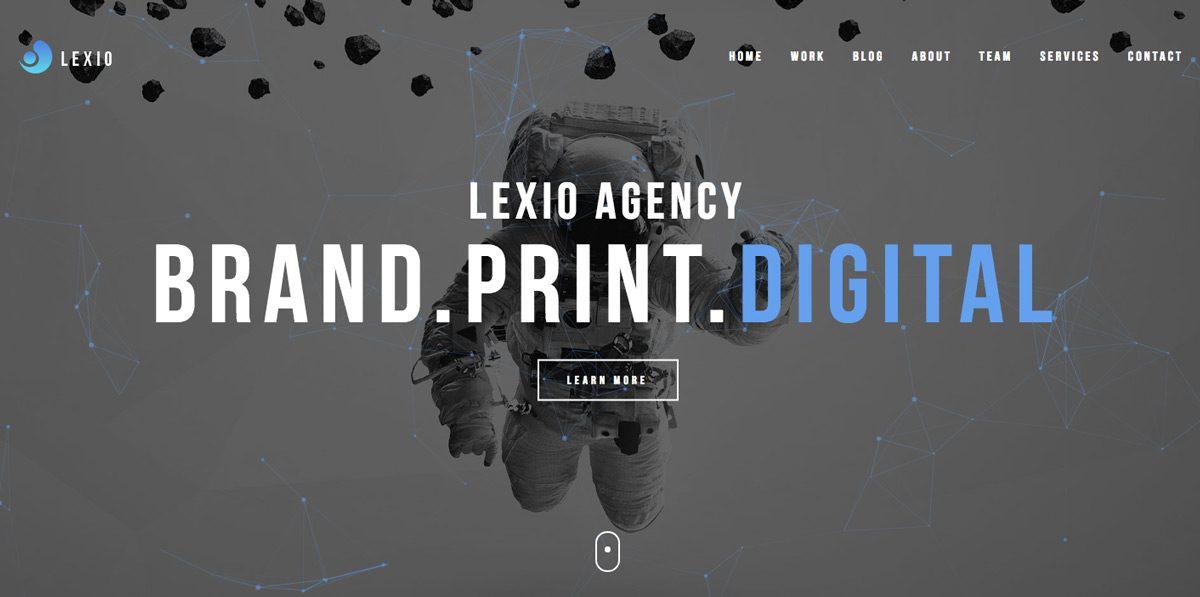 Lexio Onepage Creative WP Theme