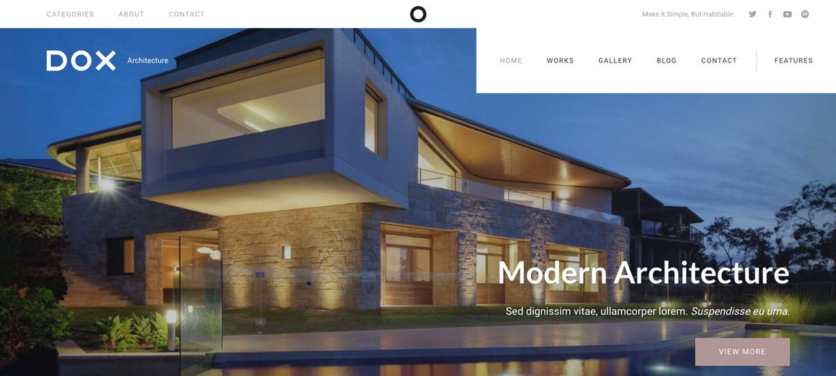 Dox Architecture WordPress Theme