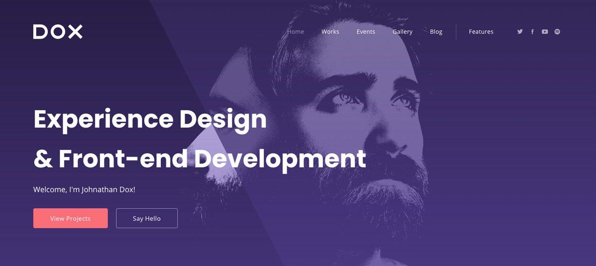 Dox Minimal WordPress Theme