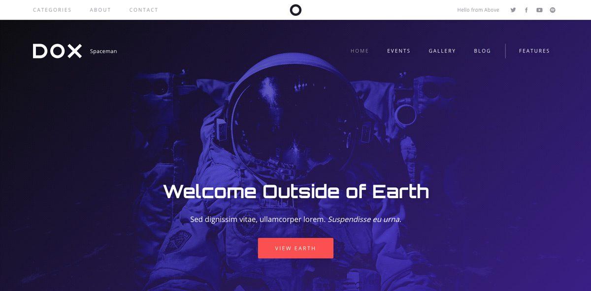 Dox Spaceman WordPress Theme