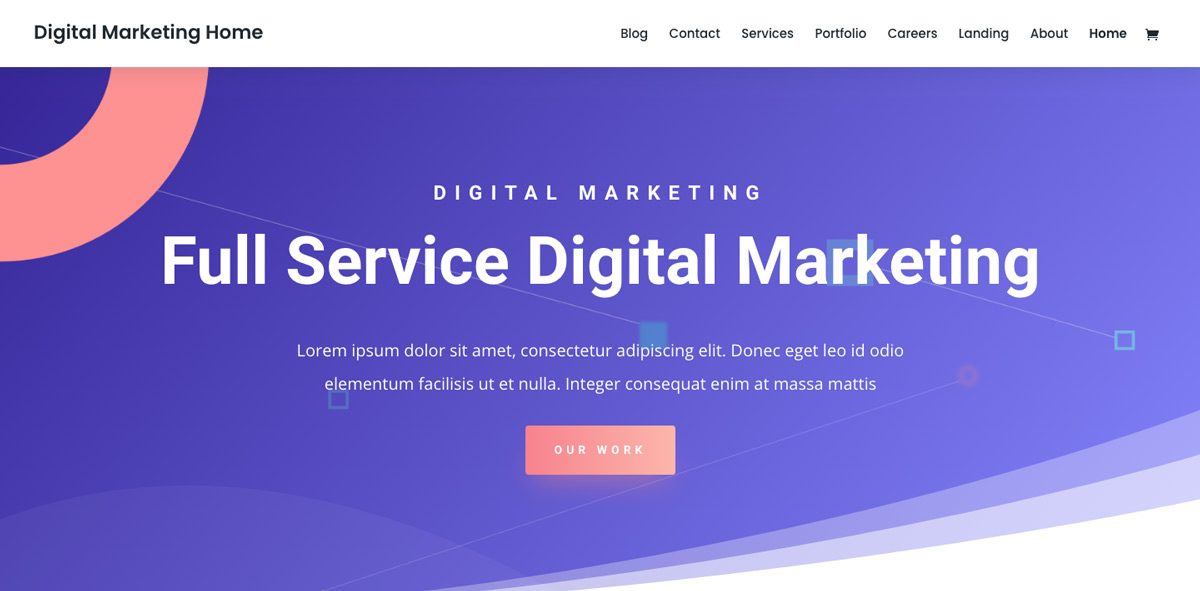 Divi Digital Marketing WordPress Theme