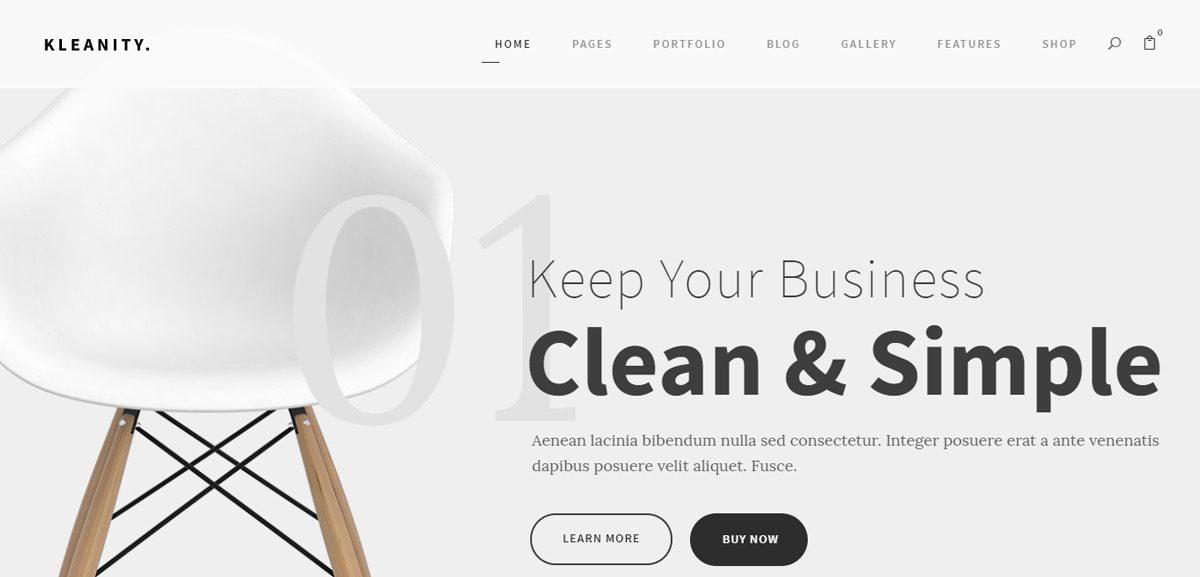 Kleanity Minimalist eCommerce Theme