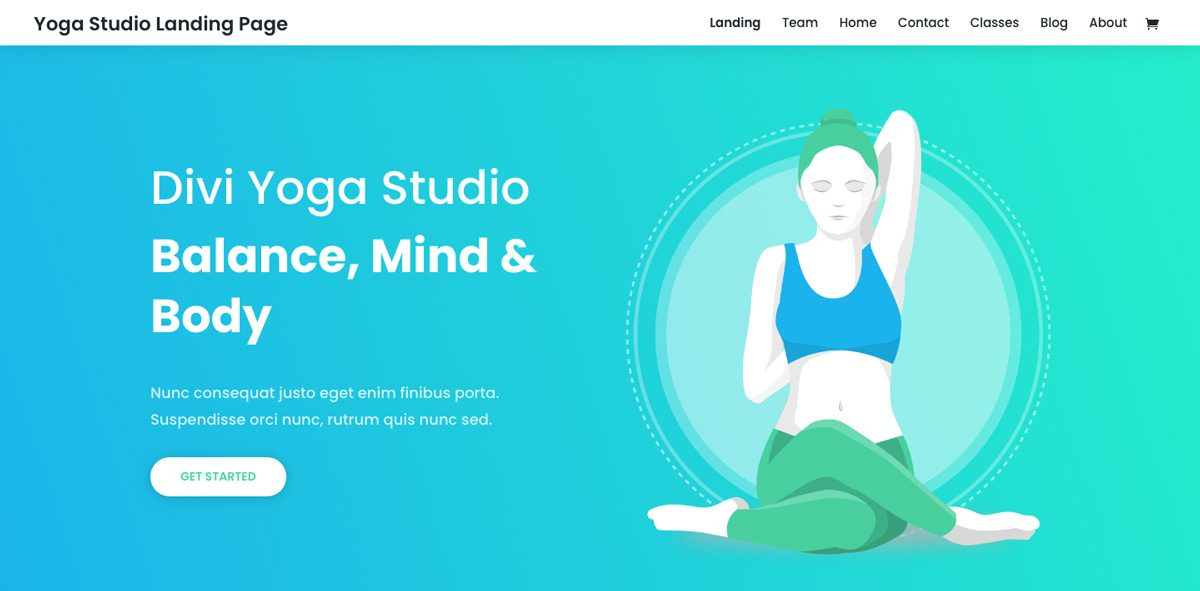 Divi Yoga WordPress Theme