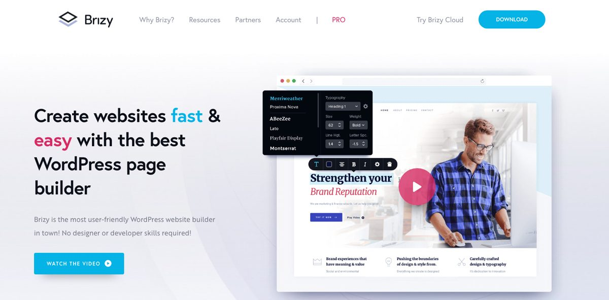 Brizy WordPress Builder
