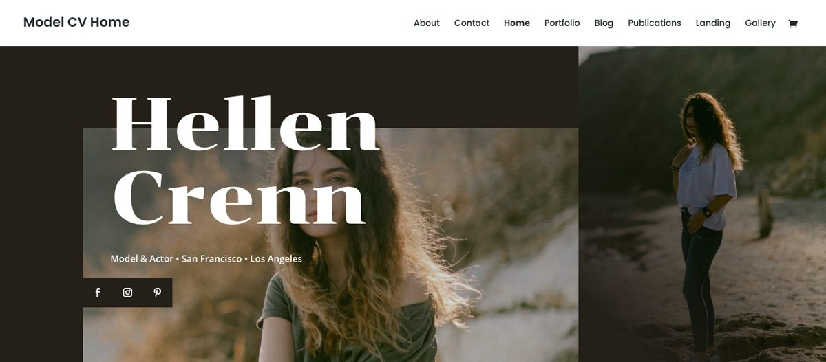 Model Portfolio WordPress Theme