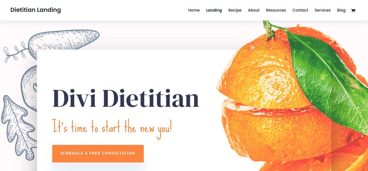 Divi Dietician Wordpress Theme