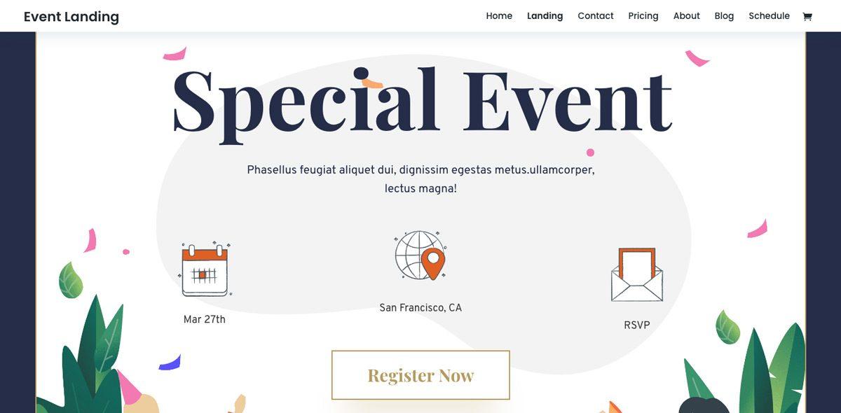 Divi Event WordPress Theme