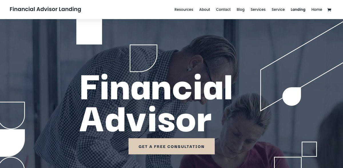 Divi Financial Planner Theme