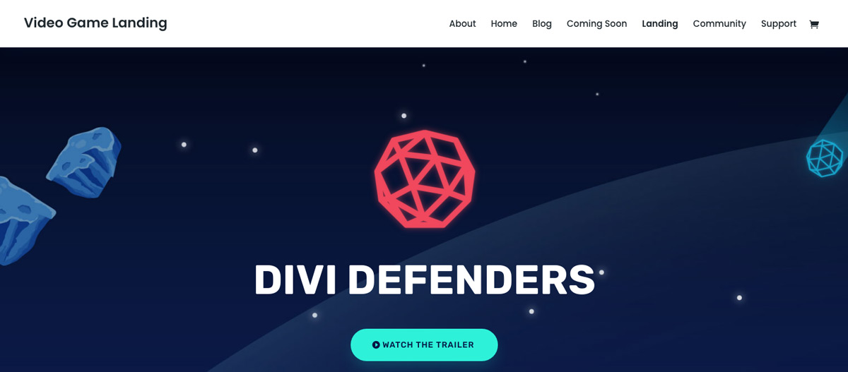 Video Game Divi Theme