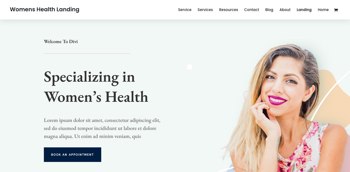 Divi Women Health Theme