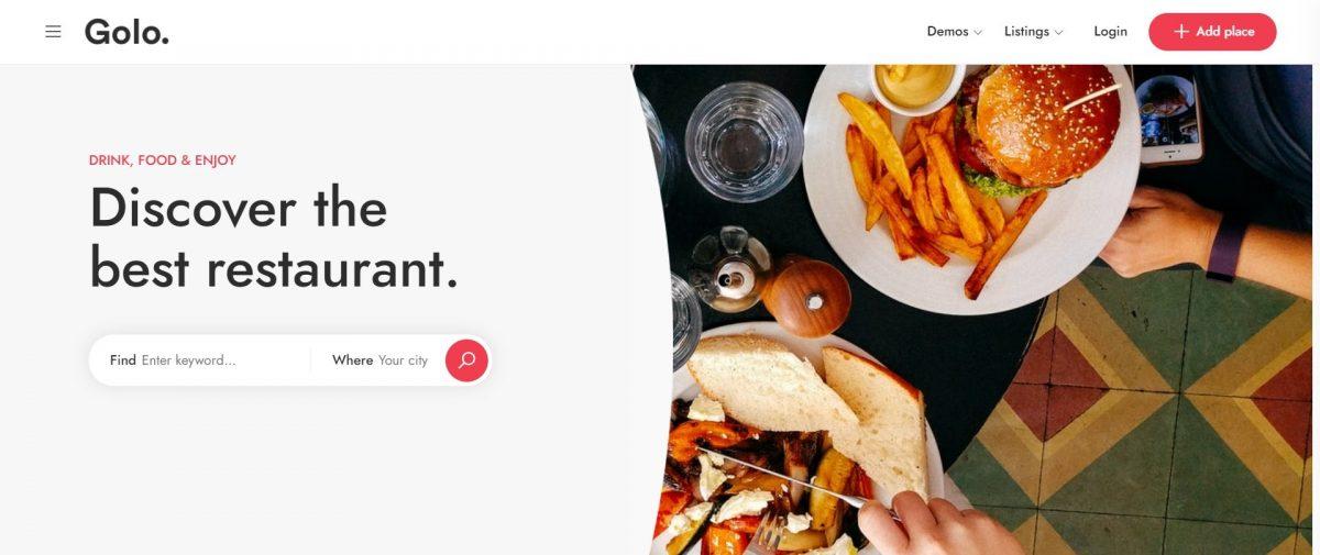 Golo WordPress Restaurant Theme