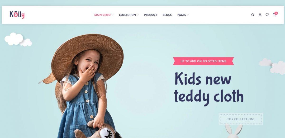 Kolly Baby Clothes WordPress Theme