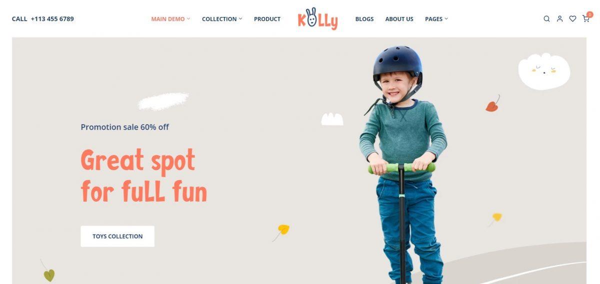 Kolly Baby Toys Shopify Theme