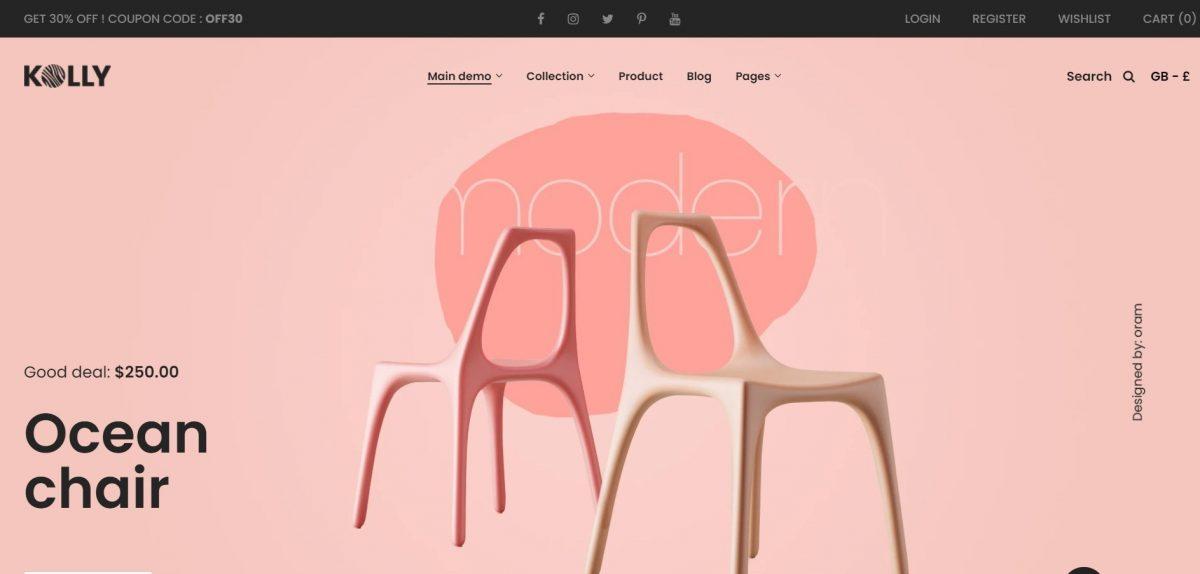 Kolly Furniture Shopify Theme